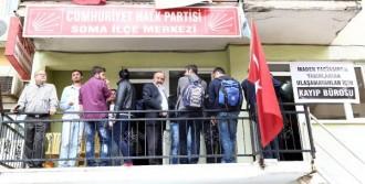 CHP Soma'da Kayıp Madenci Bürosu Açtı