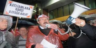 CHP'lilerin Yürüyüşüne Polis İzin Vermedi