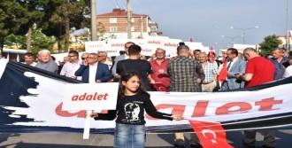 Çorlu'da CHP'lilerden 'Adalet Yürüyüşü'
