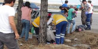 Çorum'da Otomobil Takla Attı: 6 Yaralı