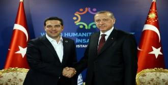 Cumhurbaşkanı Erdoğan, Çipras İle Görüştü