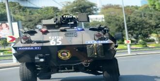 Erdoğan'ın Konvoyunda Zırhlı Araç