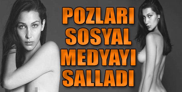 Bellla Hadid'den 'Meme Uçlarına Özgürlük'