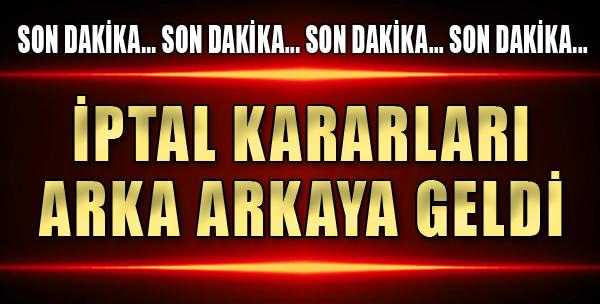 İzmir'de İptal Kararları Arka Arkaya Geldi
