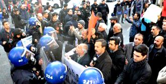 Adıyaman'da Protestoda Gerginlik