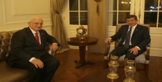 Davutoğlu, Ak Parti Meclis Başkanı Adayı Kahraman'ı Kabul Etti
