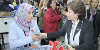 Güler, İşçi Kadınları Ziyaret Etti
