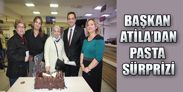 Başkan Atila'dan Pasta Sürprizi