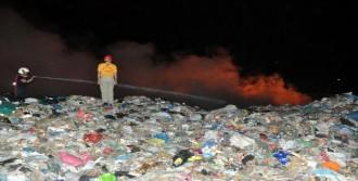 Didim'de Katı Atık Alanında Yangın