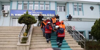 Emniyet Müdürlüğü'nde Deprem Tatbikatı