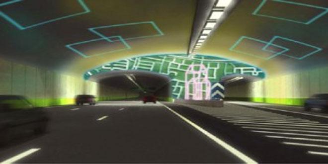 Sanat Galerisi Gibi Karayolu Tüneli