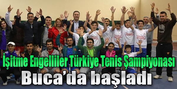 İşitme Engelli Türkiye Tenis Şampiyonası Buca'da Başladı