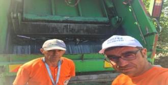 3 Gün Boyunca Çöp Aracında Çalıştı