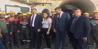 Ermenek'te Maden İşçilerinden 'Ücret' Eylemi