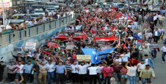 Erzurum'da Filistin İçin Yürüdüler