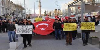 Şehit Polis İçin Uşak'ta Yürüyüş Düzenlendi