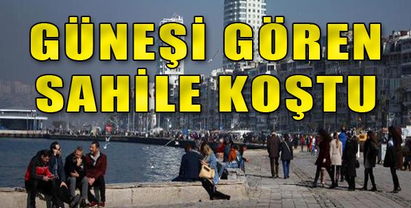 İzmirliler Sahile Koştu