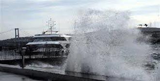 Bandırma'da Rüzgar Deniz Ulaşımını Aksattı