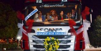 TIR'dan Düğün Konvoyuna Trafikte Ceza