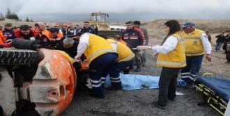 Forklift Devrildi: 1 Ölü, 1 Yaralı