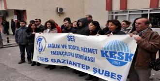 Gaziantep'te Sağlık Çalışanlarından Protesto