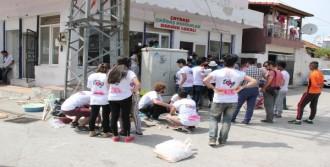 Gönüllü Üniversiteliler Çaybaşı'nı Boyadı