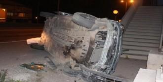 Ticari Araç Takla Attı, Sürücü Ağır Yaralandı