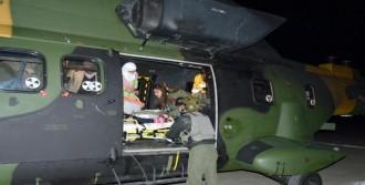 Hamile Kadın İçin Helikopter Kalktı