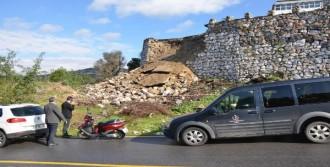 Hastanenin İstinat Duvarı Çöktü