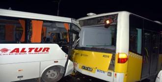 Servis Aracı Kaza Yaptı: 8 Yaralı