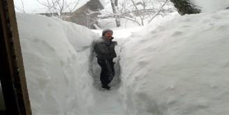 Kar Kalınlığı 2 Metreyi Buldu