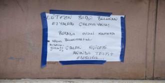 Hırsızlara Not Bıraktı