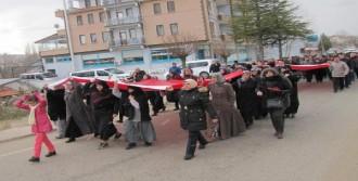 Hisarcık'ta Teröre Lanet Yürüyüşü