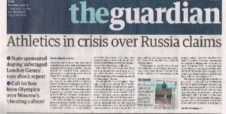 Rusya'ya Doping Eleştirisi