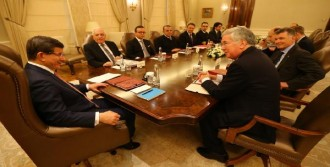 İngiltere Savunma Bakanı Michael Fallon Çankaya Köşkü'nde