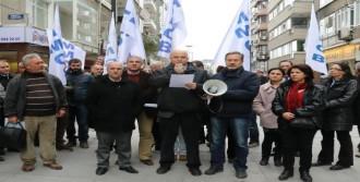 İş Kazaları Ve İşçi Ölümleri Protesto Edildi
