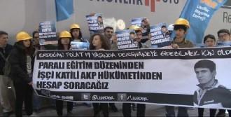 İşçi Ölümüne 'Kefenli'  Protesto