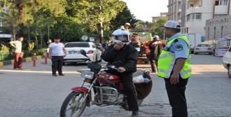 İslahiye'de 18 Plakasız Motosiklete El Konuldu
