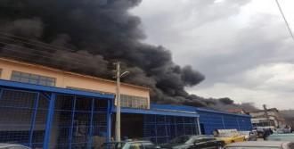 Isparta'da Fabrika Yangını