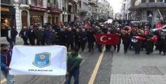 İstiklal Caddesi'nde Kayseri'deki  Terör Saldırısına Protesto