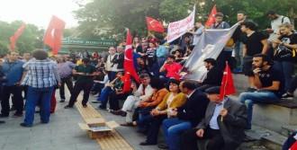 Bin Kişilik Grup Sloganlarla Yürüdü