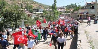 Şırnak'ta Bayraklı Protesto