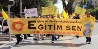 Kahramanmaraş'ta Eğitimciler İş Bıraktı