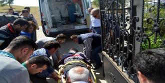 Kamyonun Çarptığı Sürücüsü Yaralandı