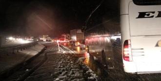 Kar Yağışı Eskipazar'da Etkili Oldu