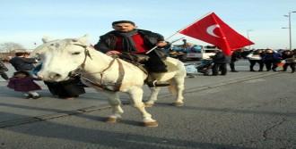 Kayseri'de  'Şehide Ve Bayrağa Saygı' Yürüyüşüne 70 Bin Kişi Katıldı