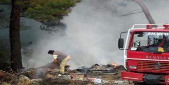 Kazdağları'nın Eteklerinde Çöplükte Yangın