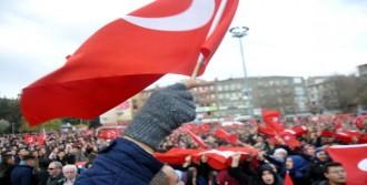 Kırıkkale'de Teröre Lanet, Polise Destek
