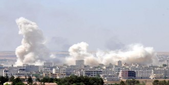 Kobani'de Şiddetli Patlama