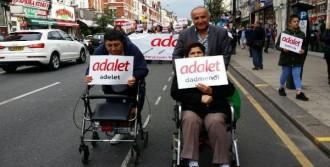 Londralı Türkler 'Adalet Yürüyüşü'nde